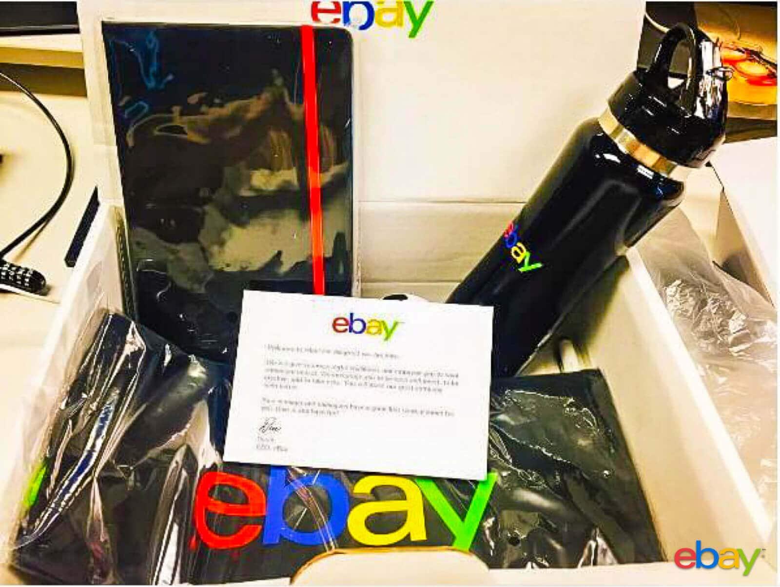 ebay-new employee welcome kit example