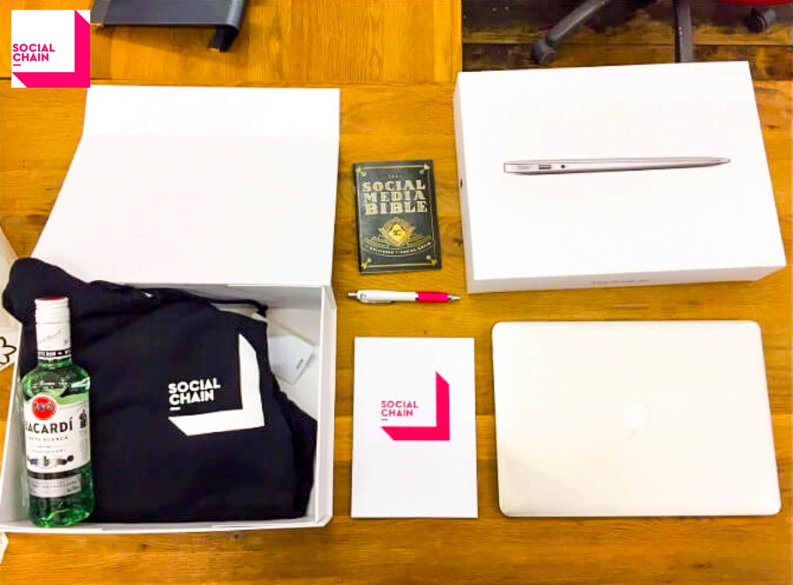social-chain-new employee welcome kit example